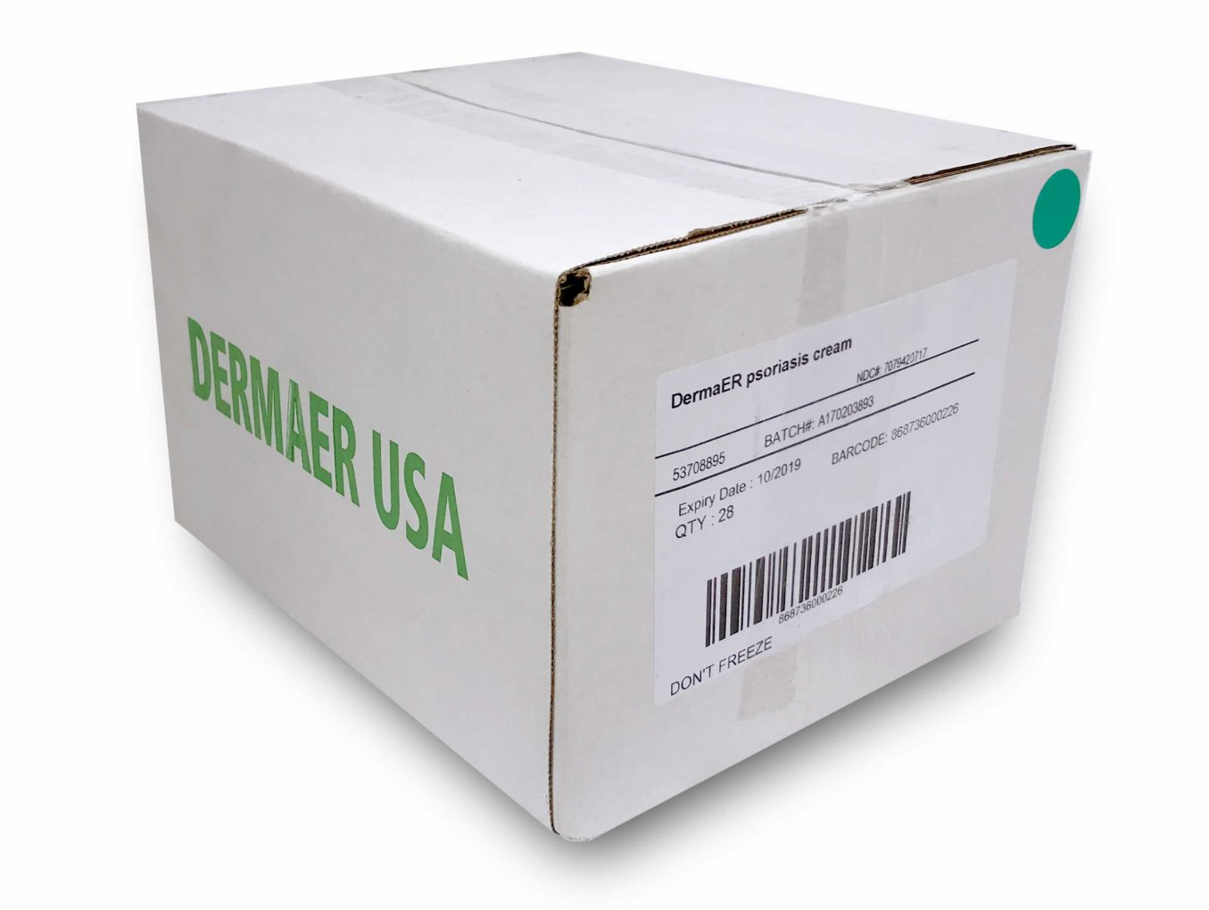 DermaER Psoriasis medicated ointment 28-unit box